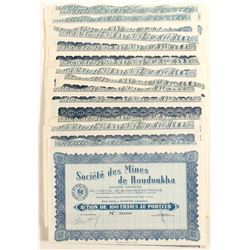 Societe des Mines de Boudoukha (Ivory Coast, Africa) Bond Certificates