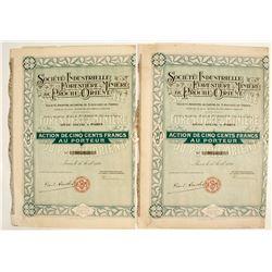 Societe Industrielle Forestiere & Miniere du Proche Orient Bond Certificates