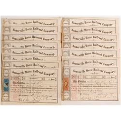 Somerville Horse Railroad Company Stock Certificates