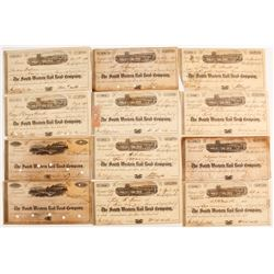 South Western Rail Road Company Stock Certificates