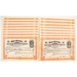 Stark Electric Railroad Company Stock Certificates