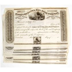 Syracuse & Utica Rail Road Company Stock Certificatess