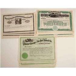 Syracuse Chenango and New York Railroad Company Stock Certificates and Others