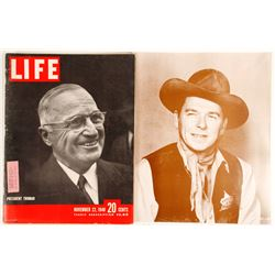 U.S. Presidents Photo & Life Magazine w/ President Truman