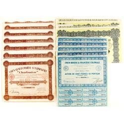 Union Miniere & Finaciere Coloniale & Union Charbonniere Continentale (French Bond Certificates)