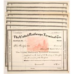 United Railways Terminal Co. Stocks