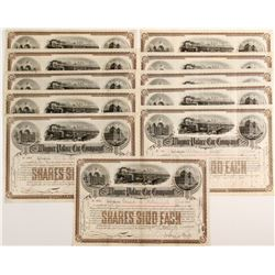 Wagner Palace Car Company Stock Certificates
