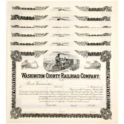 Washington County Railroad Company Stocks