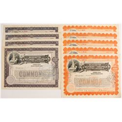 Washington, Baltimore and Annapolis Electric Railroad Stock Certificates