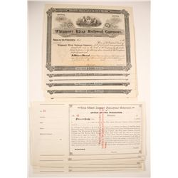 West Jersey Railroad Company & Whippany River Railroad Company  Stock Certificates