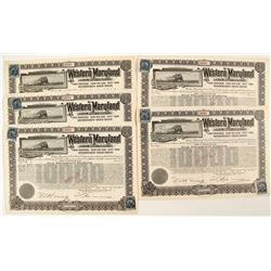 Western Maryland Railroad Company Bond Certificates