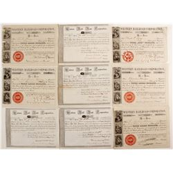 Western Rail Road Corporation Stock Certificates