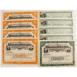 Wilmington & Chester Traction Company & Wilmington and Philadelphia Traction Company Stock Certifica