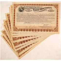 Youngstown-Sharon Railway and Light Company Stock Certificates