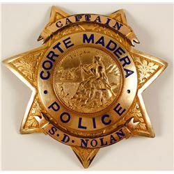 Badge from Corte  Madera, Cal. Police