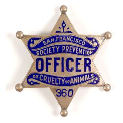 SPCA Badge, San Francisco, CA
