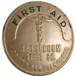Bethlehem Steel Co. First Aid Badge