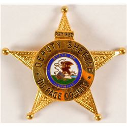 Retired Deputy Sheriff Badge