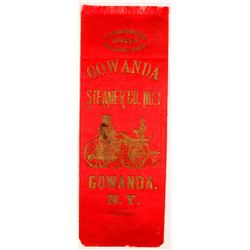 Gowanda Steamer Co Fire Ribbon