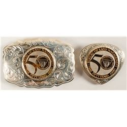 Sterling Silver Belt Buckle and Bolo Set - DOI 50th Anniversary