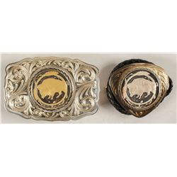 Sterling Silver Belt Buckle and Bolo Set - NWT Mint Buffalo bullion design
