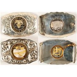 Sterling Silver Two Belt Buckle Set - DOI and FOE