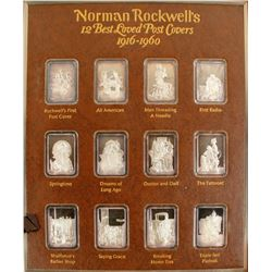 Norman Rockwell's 12 Best Loved Post Covers - .999 Fine Silver Bar set