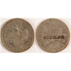 J.F. Rudolph Counterstamped Quarter