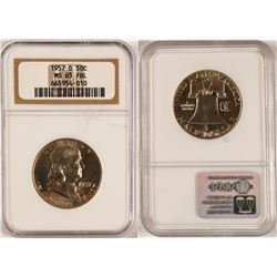 Gem 1954-D Franklin Half Dollar