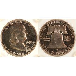 Proof 1955 Franklin Half Dollar