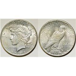 Gem 1928-S Peace Dollar