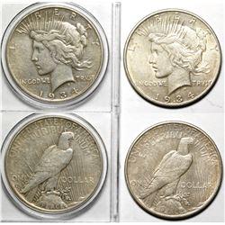 1934 Peace Dollars (2)