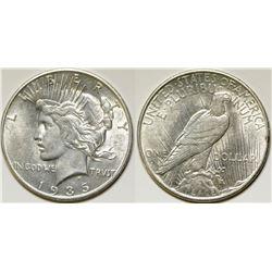 1935-S Unc Peace Dollar