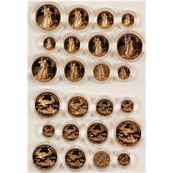 American Eagle Gold Bullion Proof Sets (3)