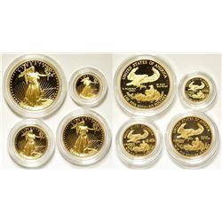 Gold American Eagles Mint Proof  Set