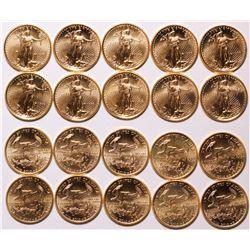 American Eagle 1/10 oz, Ten Coins, 1998