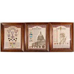 American Stamp and Coin Framed Presentations