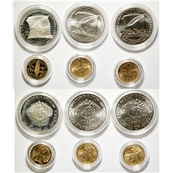 US Constitution UNC Silver/Gold Coin Set