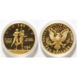 1984 $10 Olympic Liberty Gold Commemorative Coin Uncirculated