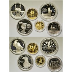 Liberty and Olympic Gold and Silver Proof Sets