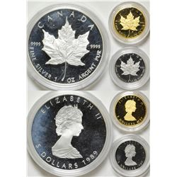 Canada Three-Coin, Three-Metal set