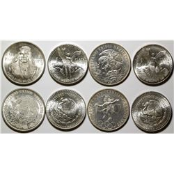 Four Mexican Silver Coins