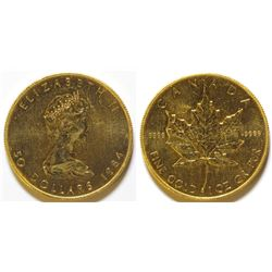 1984 $50 Gold Canadian Maple Leaf coin 9999