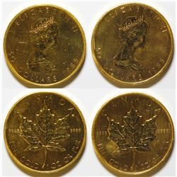 1985 Canadian $50 Gold Maple Leaf Coins (2)