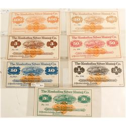 Manhattan Silver Mining Co. Scrip Complete Set