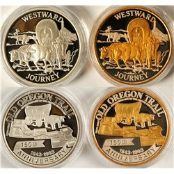 Oregon Trail 150th Anniversary Silver Medallions (2)