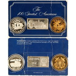 Various Commemorative Medallions and Bar