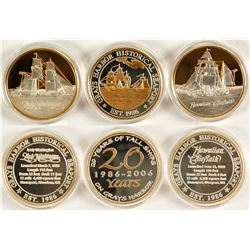 """20 Years of Tall Ships"" Gray's Harbor Commemorative Silver Medallions - Set of 3"