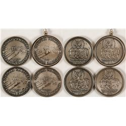 Four Riverside National Cemetary Coins/Pendant