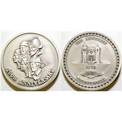 Old Monterey Bicentennial Silver Medal - MACo